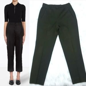 Prada High Waisted Cropped Stretch Ankle Pants